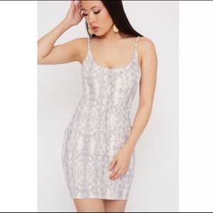 BRAND NEW Scuba Snake Printed Bodycon Mini Dress